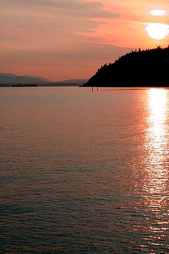 Clinton, Washington - Sunset from a Clinton beach