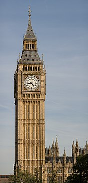 Clock Tower - Palace of Westminster, London - September 2006.jpg