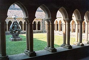 The cloisters of Iona Abbey.