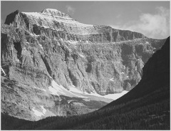 "Close in view of mountain side, ""From Going-to-the-Sun Chalet, Glacier National Park,"" Montana., 1933 - 1942 - NARA - 519862.tif"