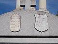 CoA reliefs, World War II memorial detail, Munkácsy Street, 2017 Törökbálint.jpg