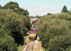 Merthyr line - EWS Class 66 moves coal from Tower Colliery towards Aberdare, 2006