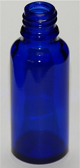 Cobalt blue flask