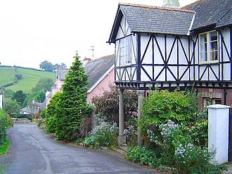Coffinswell - A typical view of the village of Coffinswell