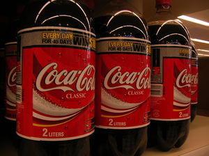 Coke 2litre bottles