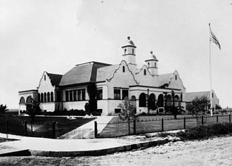 Compton High School - Compton High School's original building in 1912.