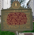 Confederate occupation marker Frankfort KY.png