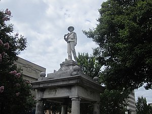 Union County, Arkansas - Confederate monument at Union County Courthouse