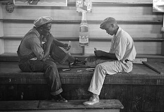 Conquian - Image: Conquian Players Louisiana 1938