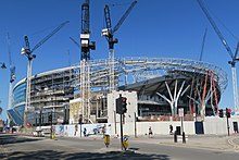 2032638f5e892 Stadium under construction in May 2018. The two steel