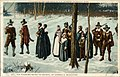 Copyrighted and Published by A S Burbank, 127, The Pilgrims going to Church, by George H Boughton (NBY 21949).jpg