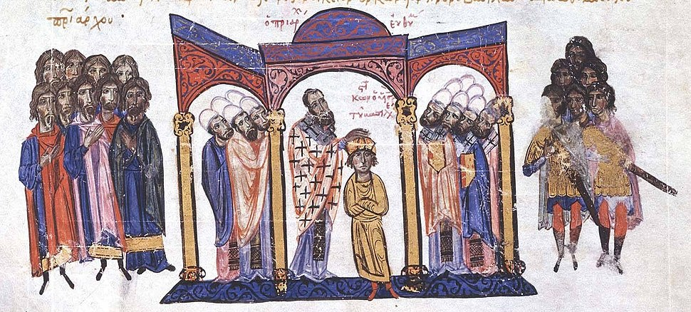 Coronation of Constantine VII as co-emperor in 908