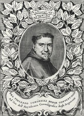 Vincenzo Coronelli - Vincenzo Coronelli, from the frontispiece of the folio edition of Atlante Veneto