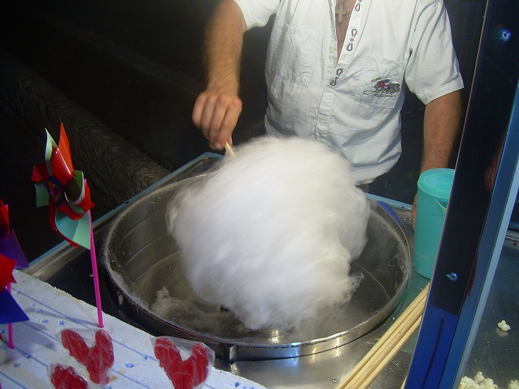 Cotton candy Μαλλί της γριάς