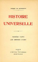 Coubertin - Histoire universelle, Tome I, 1926.djvu