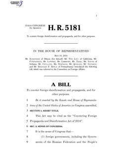 Countering Foreign Propaganda and Disinformation Act