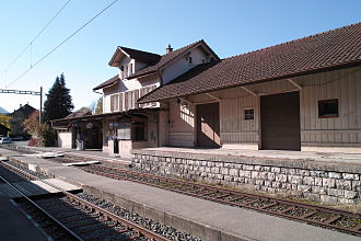 Court, Switzerland - Court railroad station