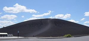 Craters of the Moon National Monument and Preserve - The black soil on Inferno Cone exhibits the properties Limbert wrote about.