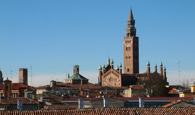 Panorama of Cremona, with the Torrazzo di Crem...