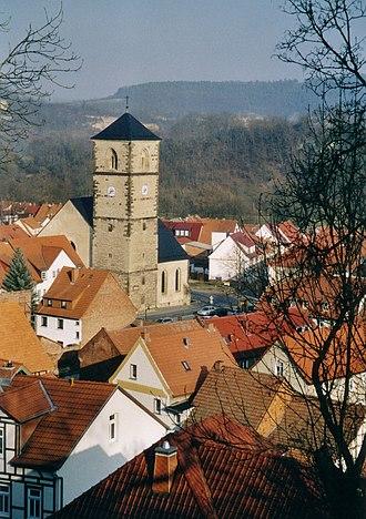 Creuzburg - Creuzburg with Nikolaikirche tower