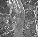 Crillon Glacier, terminus of valley glacier with large moraines, September 16, 1966 (GLACIERS 5327).jpg