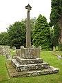 Cross in Tyberton churchyard (geograph 1994999).jpg