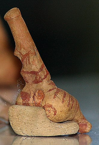 Symbols and proto-writing of the Cucuteni–Trypillia culture - Note the four lines on the shoulder of this member