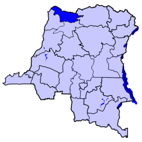 Localisation du district du Nord-Ubangi
