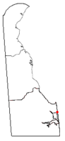 Location of Dewey Beach, Delaware