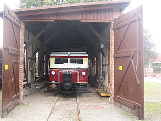 Wismar railbus - T 41 (1st series) in the DEV shed in Asendorf