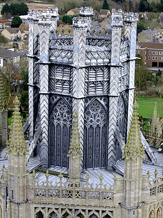 Alan of Walsingham - Image: DSCF0435, UK, Ely, Cathedral, Octagon Tower from West Tower