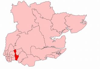 Dagenham (UK Parliament constituency) - Dagenham in Essex, boundaries used 1945-50