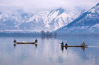 Lake in Srinagar, Jammu and Kashmir, India