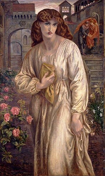 File:Dante Gabriel Rossetti - Salutation of Beatrice - Google Art Project.jpg