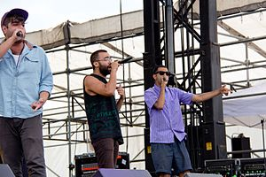 Das Racist - Das Racist performing at Governors Ball in New York City in 2011