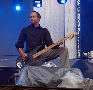 Dave Farrell from Linkin Park performing at So...