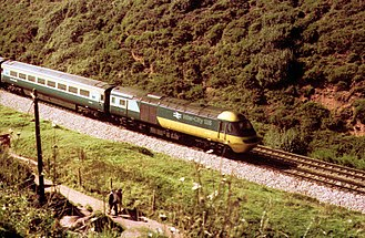 British Rail Classes 253, 254 and 255 - Class 253 set at Dawlish Warren in the 1970s