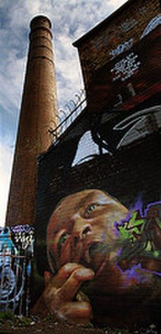 Southville, Bristol - Graffiti at Dean Lane Park