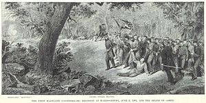 Battle of Good's Farm - The death of Ashby during the battle