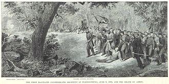 Turner Ashby - Ashby's death at Good's Farm