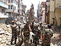Debris Clearance at Lalitpur Chowk road by Engineer Task Force on May 02, 2015. following a recent massive earthquake in Nepal.jpg