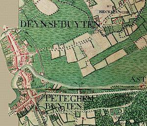 Deinze - Image: Deinze, Belgium ; Ferraris map