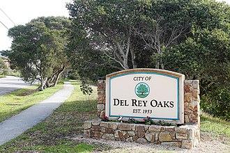 Del Rey Oaks, California - Image: Del Rey Oaks sign
