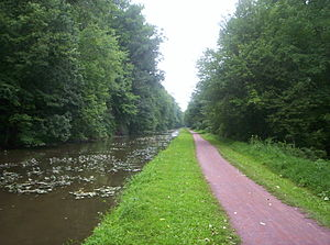 Delaware Canal State Park - Part of the trail that follows the Delaware Canal