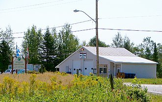 Denholm, Quebec - Temporary Municipal offices in Fire Hall