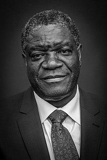 Denis Mukwege Congolese gynecologist, Nobel laureate
