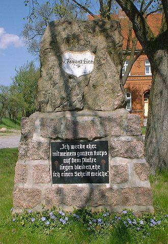 Bogislav Friedrich Emanuel von Tauentzien - Memorial of Tauentzien in Dennewitz.