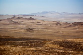 Lomas - Except for the lomas and river valleys the deserts of Chile and Peru are barren.