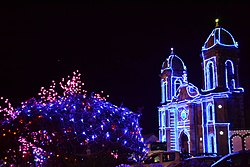 Church of Tibasosa with Christmas