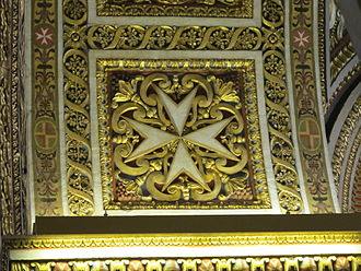 Maltese cross - Maltese cross in St. John's Co-Cathedral, Valletta, Malta